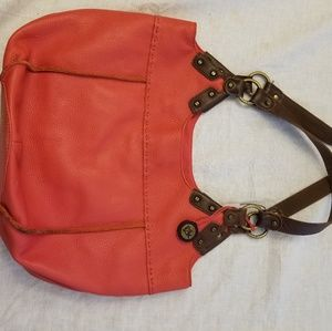 The Sak Leather Hobo Tote Coral